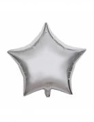 Sternballon Partydeko silber 40 cm
