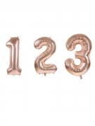 Zahlen-Luftballon Ziffern-Ballon für Geburtstage rosa 36 cm
