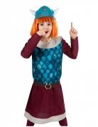 Offizielles Wickie™-Kostüm für Kinder Wickie und die starken Männer blau-bordeaux