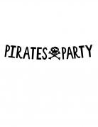 Piraten-Girlande Pirates Party Kindergeburtstag-Deko schwarz 1 m