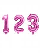 Ballon-Zahl verschiedene Ausführungen wählbar Geburtstag-Deko rosa 35 cm