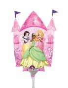 Prinzessinnen-Schloss-Luftballon Disney™ Schneewittchen, Tiana und Aurora Deko pink 25x33cm