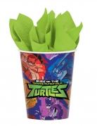 Ninja Turtles™ Becher Tischdeko 8 Stück bunt 266ml