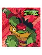 Ninja Turtles™-Servietten Rise of the Ninja Turtles™ Partydeko bunt 33x33 cm