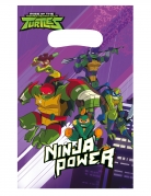 Ninja Turtles™-Geschenkbeutel Dekoration 8 Stück bunt