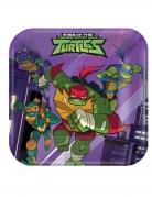 Rise of the Ninja Turtles™-Pappteller Tischdeko 8 Stück 18x18 cm