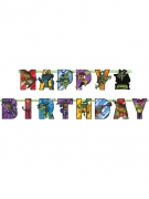 Ninja Turtles™-Girlande Happy Birthday Party-Deko bunt 200x15 cm