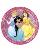 Disney™-Prinzessinnen Pappteller für Kinder 8 Stück bunt 23 cm