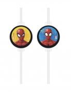 Spider-Man™ Strohhalme 4 Stück bunt