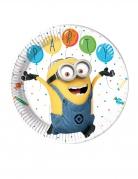 Minions™-Partyteller für Kinder 8 Stück bunt 23 cm
