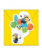 Minions™-Einladungen 6 Stück bunt 14 x 9 cm