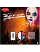 Harlekin Halloween Make-up Set für Erwachsene 4-teilig bunt