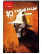 3-D-Hexen-Maske Polygon-Maske Halloween silber