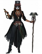 Voodoo-Kostüm für Damen Halloween-Kostüm schwarz-braun
