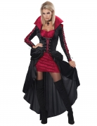 Verführerisches Vampir-Kostüm für Damen Halloweenkostüm schwarz-rot