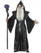 Schwarzer Magier Kostüm Hexenmeister-Kostüm schwarz