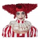 Killerclown-Perücke für Damen Halloween-Perücke rot