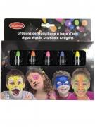 Schminkstifte für Kinder auf Wasserbasis 5 Stück neonfarben-bunt 2,8 g