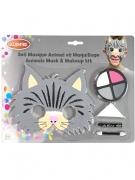 Katze-Schminkset mit Maske für Kinder 5-teilig bunt