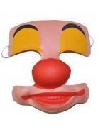 Clownsmaske mit Aussparungen für Erwachsene
