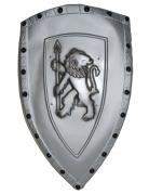 Ritterschild mit Löwen-Motiv silber 72x42cm