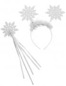 Schnee-Engel-Set Accessoire-Set für Engel 2-teilig weiss