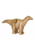 Dinosaurier Platzmarkierungen 4 Stück gold 9,5 x 5 cm