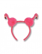 Flamingo-Haarreif mit Pompons Accessoire rosa-schwarz