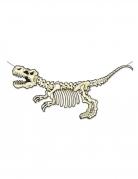 Skelett-Dinosaurier Banner aus Pappkarton weiss-schwarz 152 x 71 cm