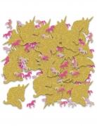Einhorn-Tischkonfetti rosa-gold 70 g