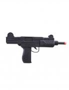 Maschinenpistole UZI Spielzeug-Pistole schwarz 37cm