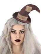 Hexen-Hut Haarreif Halloween-Accessoire braun