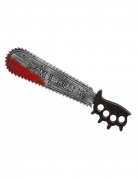 Halloween-Säge Halloween-Waffe Zombie Killer silber-schwarz-rot 50 cm