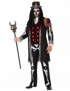 Voodoo-Kostüm für Herren Halloween-Kostüm für Herren schwarz-weiss