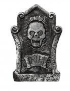 Grabstein mit Totenschädel-Motiv Halloweenparty-Deko schwarzgrau 44x30cm