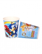 Sonic™-Trinkbecher Partydeko Tischdeko 8 Stück bunt 220 ml