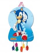 Sonic™-Pinata Videospiel-Deko für Kindergeburtstage blau-bunt 58x73cm