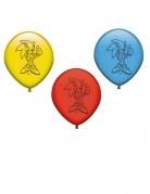 Sonic™-Luftballons Videospiel-Deko für Kindergeburtstage 3 Stück gelb-blau-rot