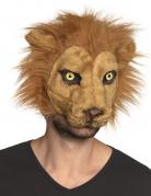 Löwen-Maske Tier-Maske Karneval braun