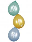 Meerjungfrauen-Luftballon Partydeko 6 Stück bunt 25 cm
