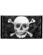Piratenflagge Jolly Roger schwarz-weiß 150 x 90 cm