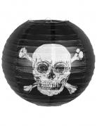 Piraten-Laterne Jolly Roger Partydeko Halloween schwarz-weiss 25 cm