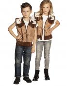 Cowboy-Weste für Kinder Kinderkostüm braun-weiss