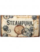 Steampunk-Flagge Partydeko braun 90x150 cm