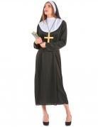Nonne-Kostüm in Übergrösse Karneval-Kostüm schwarz-weiss