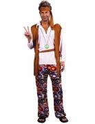 Hippie-Kostüm in Übergrösse Karneval-Kostüm in XXL bunt