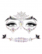 Schmucksteine selbstklebend orientalische Tänzerin Gesicht bunt