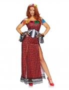 Día de los Muertos-Damenkostüm für Halloween rot