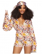 60er Jahre Flower Power-Kostüm Faschingskostüm bunt