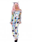 Clownskostüm für Damen Karnevalskostüm bunt